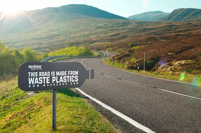 Plástico Reutilizado para Manutenção de Rodovias