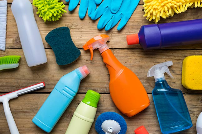 embalagens de produtos de limpeza